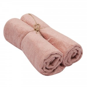 Timboo Handdoek (Medium) Set van 2 Misty Rose