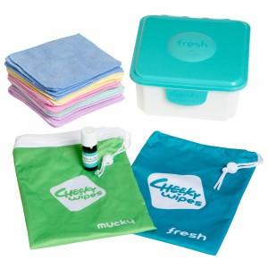 Cheeky Wipes Kit Hand en Gezicht met Microvezel Doekjes
