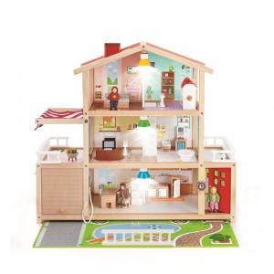 Hape Poppenhuis Family Mansion (inclusief accessoires)