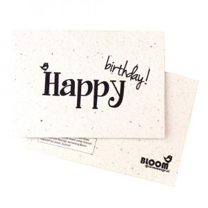 "Bloom Your Message Postkaart Flowers ""Happy Birthday"""