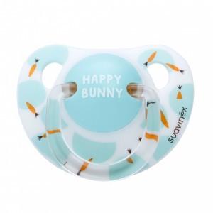 Suavinex fopspeen Anatomisch Silicone 0-6 maanden Happy Bunny