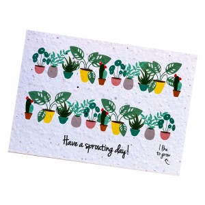 "Bloom Your Message Postkaart Flowers ""Have a Sprouting Day"""