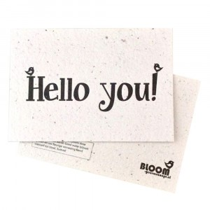 "Bloom Your Message Postkaart Flowers ""Hello You"""