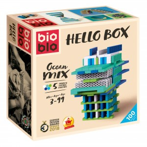 Bioblo Bouwset Hello Box Ocean Mix (100 stuks)