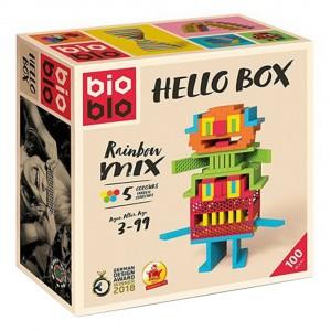 Bioblo Bouwset Hello Box Rainbox Mix (100 stuks)