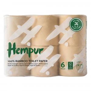 Hempur Bamboe Toiletpapier (6 rollen)