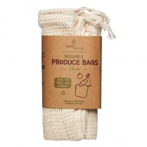 Ecoliving Herbruikbare Verpakkingszakken (3 stuks)