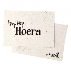 "Bloom Your Message Postkaart Flowers ""Hiep Hiep Hoera"""