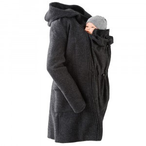 Mamalila Draagjas Hooded Coat Wool Anthracite