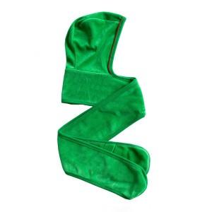 Mundo Melocoton Hoodie Sjaal Baby Velours Groen-rood