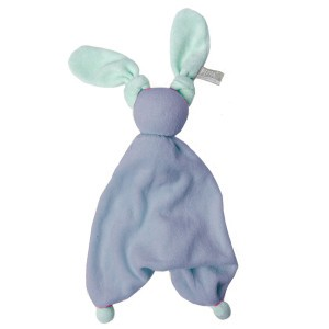 Hoppa Knuffeldoekje Floppy Organic Blauw/Mintgroen