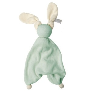 Hoppa Knuffeldoekje Floppy Organic Mint/Wit