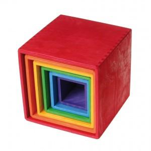 Grimm's Stapelkistjes Regenboogkleuren (15 cm)