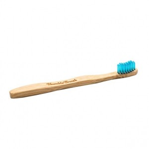 Humble Brush Bamboe kindertandenborstel blauw