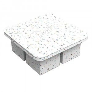 W&P IJsvorm Extra Large Speckled White