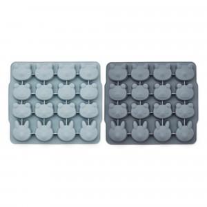 Liewood Silicone IJsblokjes Vorm (2-pack) Blue Mix