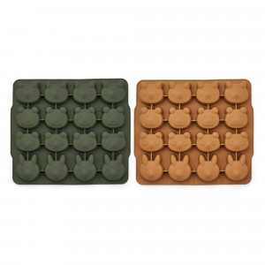 Liewood Silicone IJsblokjes Vorm (2-pack) Hunter Green/Mustard