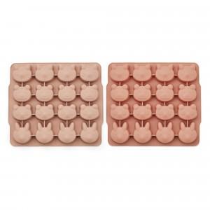 Liewood Silicone IJsblokjes Vorm (2-pack) Rose Mix