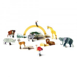 Studio Roof 3D Pop Out and Play - Savannah Animals