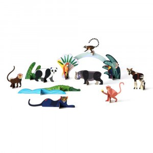 Studio Roof 3D Pop Out and Play - Jungle Animals