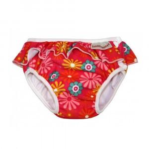 Imse Vimse Zwemluier met Volant, Roze bloemen