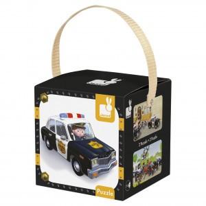 Janod Lovely Puzzel 'De politieauto van Brice'