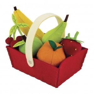 Janod Stoffen Mandje met Fruit (8 stuks)