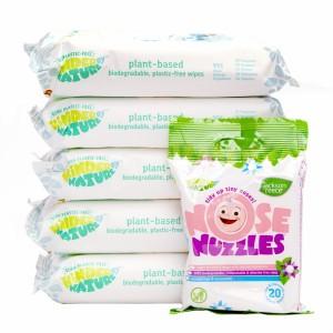 Jackson Reece Plantbased Babydoekjes Voordeelpakket (5 pakjes) + 1 pakje Verkouden neusjes doekjes gratis