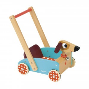 Janod Houten loopwagen Crazy Doggy