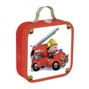 Janod Puzzel De brandweerwagen van Leon