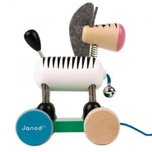 Janod Zigolos Trekspeeltje Zebra