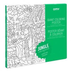 OMY Kleur Poster - Jungle