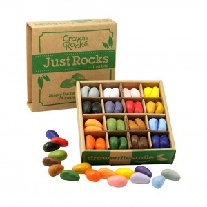 Crayon Rocks Sojawaskrijtjes Just Rocks in a Box 16 kleuren (64 stuks)