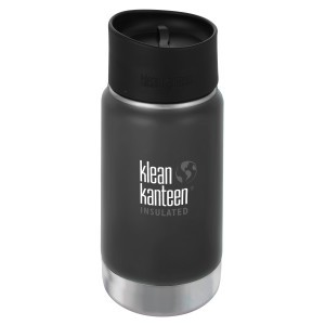 Klean Kanteen Thermos Wide Stainless Café Cap (355 ml) Shale Black