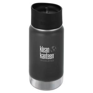 Klean Kanteen Isolatiefles Wide Stainless Loop Cap (355 ml) Shale Black