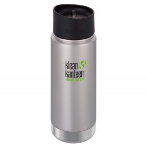 Klean Kanteen Thermos Wide Stainless Café Cap (473 ml) Brushed Stainless