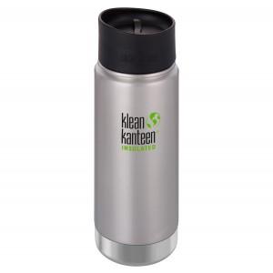 Klean Kanteen Isolatiefles Wide Stainless Loop Cap (473 ml) Brushed Stainless