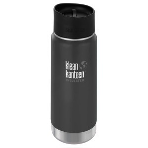 Klean Kanteen Thermos Wide Stainless Café Cap (473 ml) Shale Black