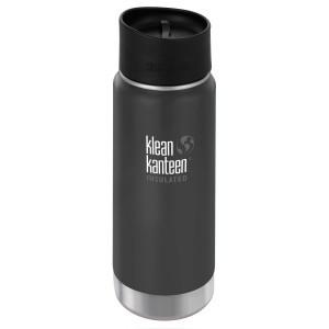Klean Kanteen Isolatiefles Wide Stainless Loop Cap (473 ml) Shale Black