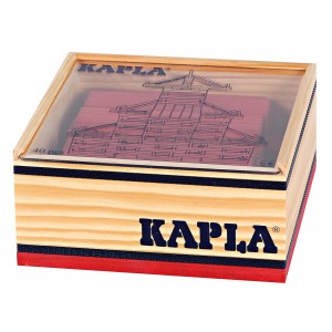 Kapla Gekleurde plankjes per 40 Rood