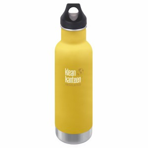 Klean Kanteen Thermische Drinkbus Insulated Classic Loop Cap (592 ml) Lemon Curry