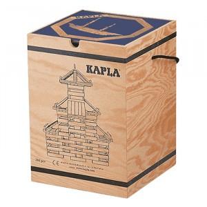 Kapla Houten Opbergkist Blauw Boek met 280 plankjes