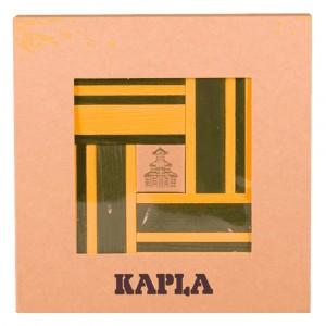 Kapla Gekleurde plankjes per 40 Geel/Groen