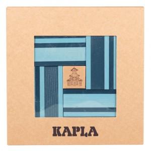 Kapla Gekleurde plankjes per 40 Lichtblauw/Donkerblauw