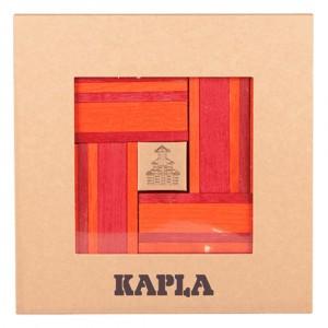 Kapla Gekleurde plankjes per 40 Rood/Oranje