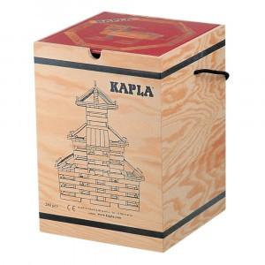 Kapla Houten Opbergkist Rood Boek met 280 plankjes