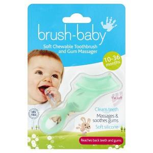 Brush Baby Kauwbare Tandenborstel Groen