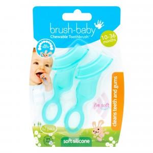 Brush Baby Kauwbare Tandenborstel Groen (2-pack)