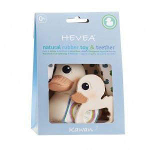 Hevea Cadeauset 100% natuurlijk badspeeltje Kawan & Bijtring