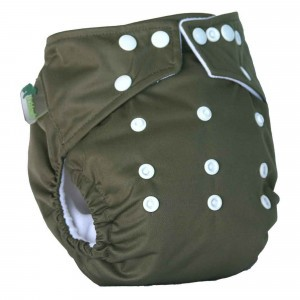 Little Lamb One Size Nappy Khaki